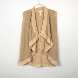 Matilda Jane Tan Cream Cardigan Vest